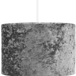 Charcoal Crushed Velvet Ceiling Shade Home George At Asda