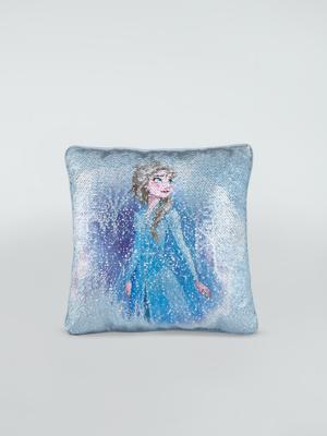 blue disney frozen elsa mini sequin cushion