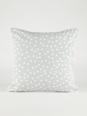 grey polka dot cushion