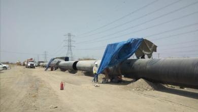 صورة 86 % نسبة الإنجاز بمشروع نقل المياه من صحار إلى الظاهرة..