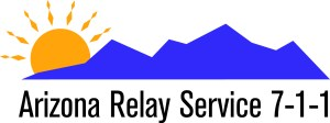 AZ Relay Service 7-1-1 graphic featuring blue mountains and a sun rising from behind the mountains