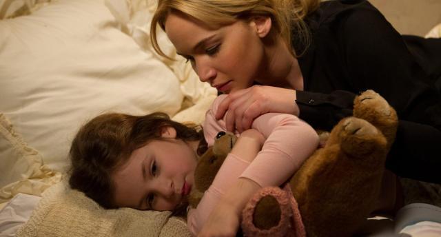 Joy con su hija, la única narrativamente relevante.