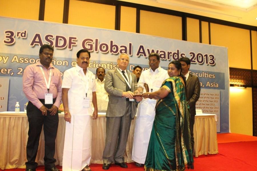 Regina Saveetha ASDF Global Awards
