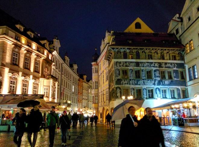 Prédio com afrescos Praga