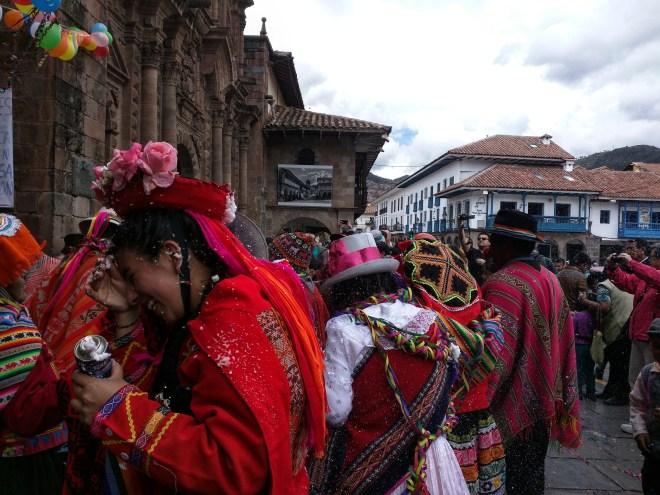 Carnaval Cusco Plaza de Armas 1