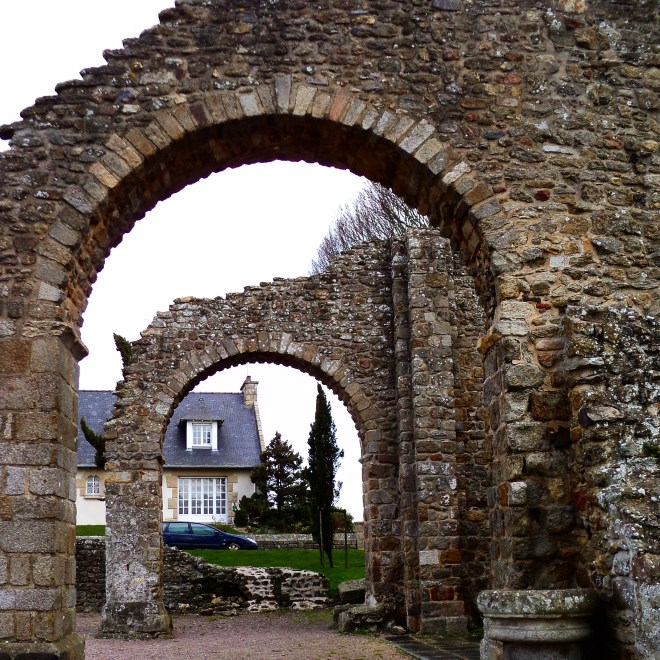 Ruínas romanas em St. Malo