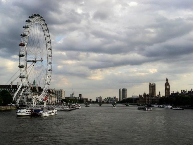London Eye e Parlamento inglês Londres