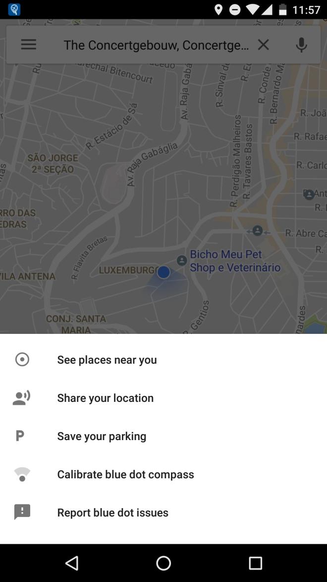 Parking e compartilhar local