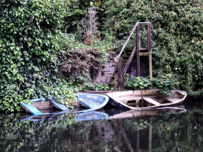 Regent's Canal barcos naufragados