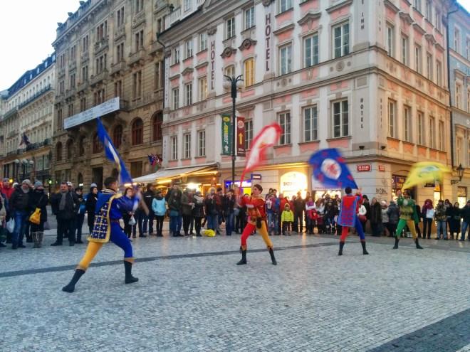 Praça Venceslau Praga Carnaval Masopust 1