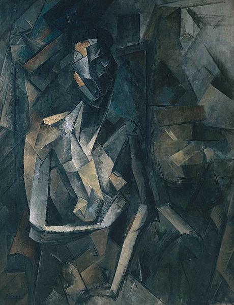 Pablo_Picasso,_1909-10,_Figure_dans_un_Fauteuil_(Seated_Nude,_Femme_nue_assise),_oil_on_canvas,_92.1_x_73_cm,_Tate_Modern,_London