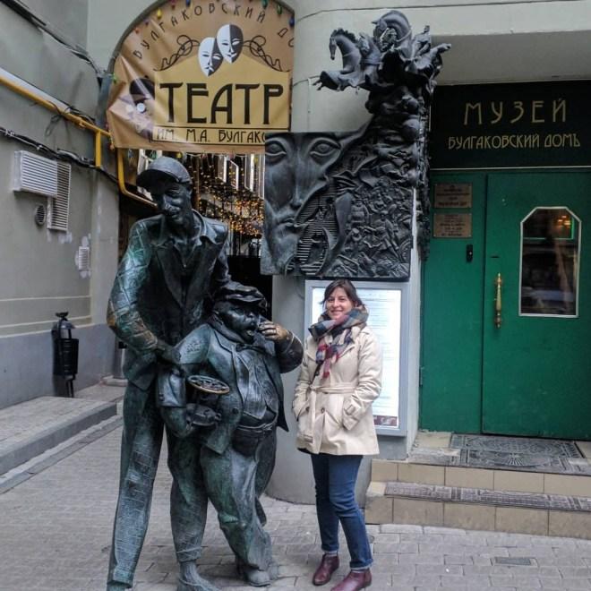 estatuas mestre margarida moscou casa woland