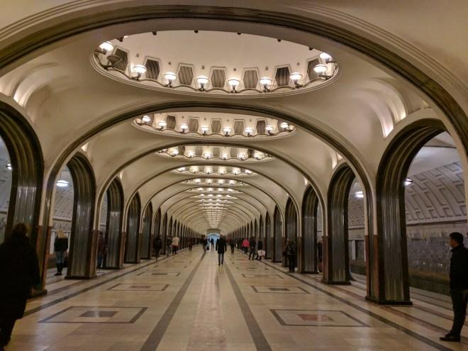 Estação metro moscou maiakovskaia