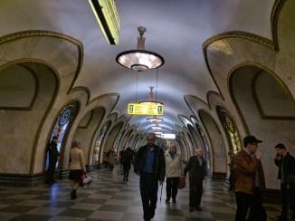 Estação metro moscou novoslobodskaia