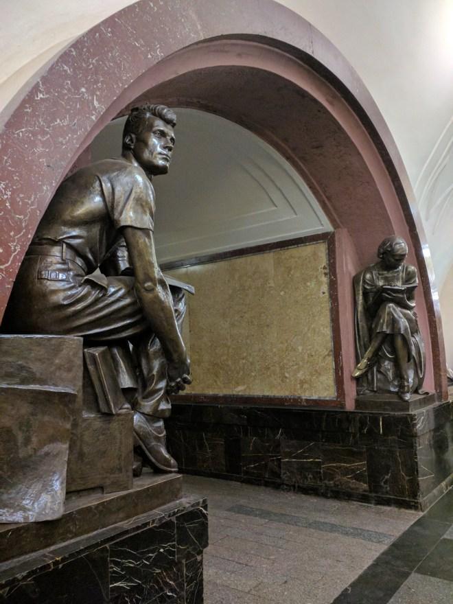 Estação metro moscou Ploschas revolutsi