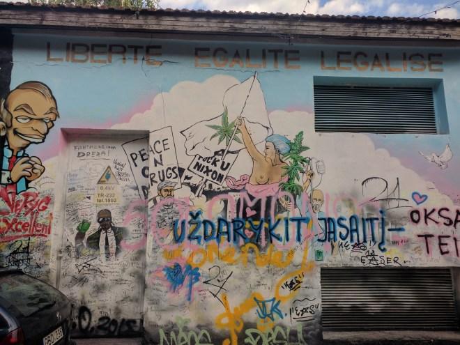 Republica de Uzupis vilnius lituania liberte egalite legalise