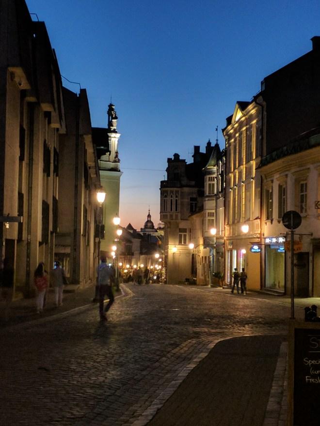 Vilnius Lituania noite 2