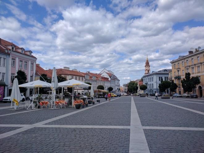 Vilnius Lituania praça da prefeitura