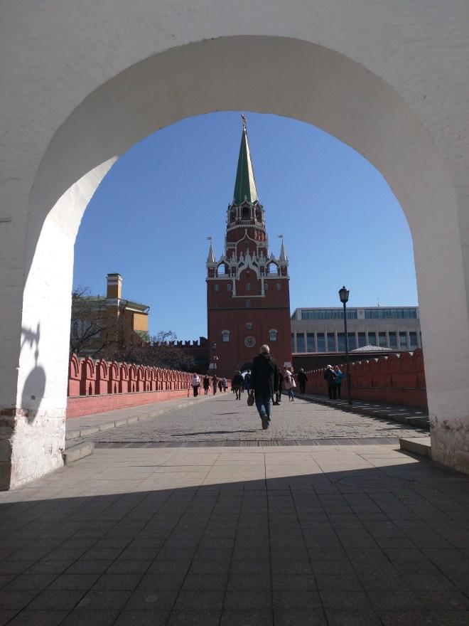 Kremlin Moscou Torre Spasskaya relogio entrada