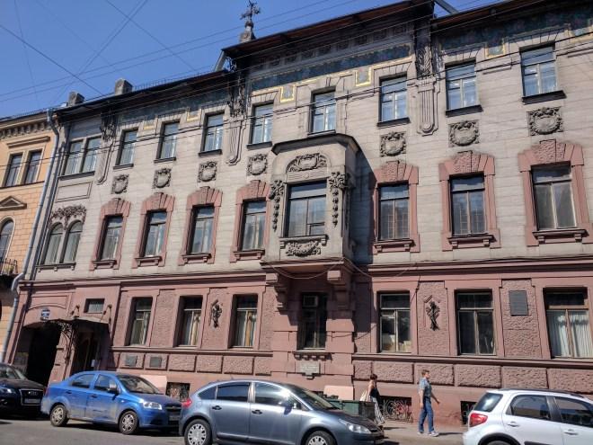 Casa museu Nabokov Petersburgo exterior