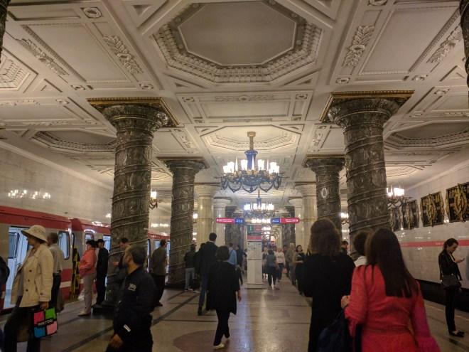Estação metro avtovo petersbugo russia
