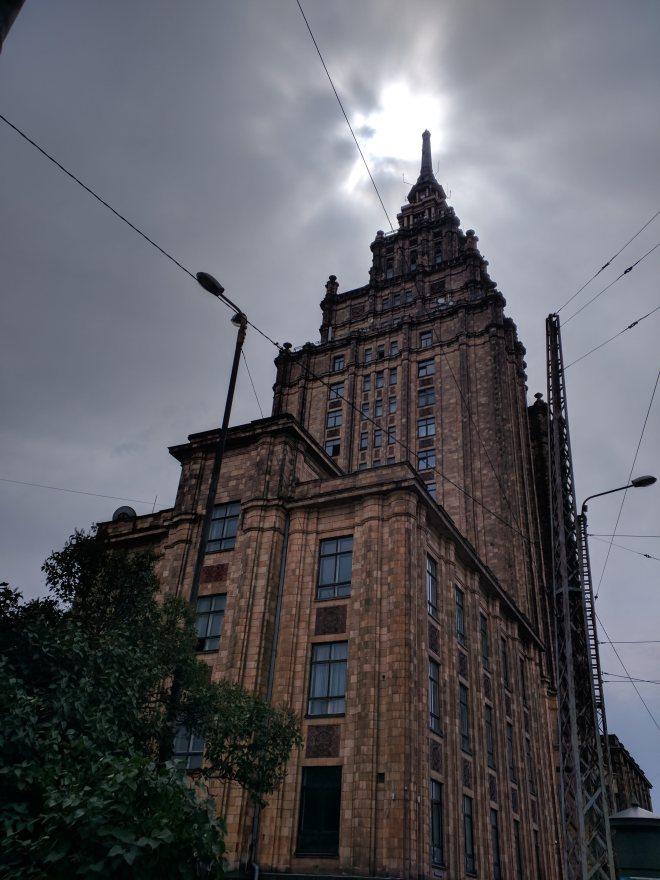 Letonia Riga moskovas edificio stalinista