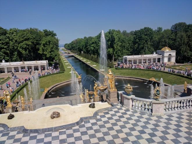 Petergof Russia Petersburgo grande cascata de cima