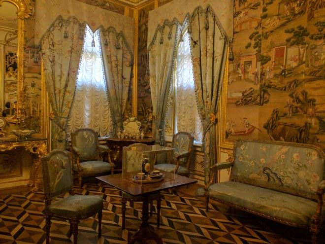 Petergof Russia Petersburgo sala decorada à chinesa