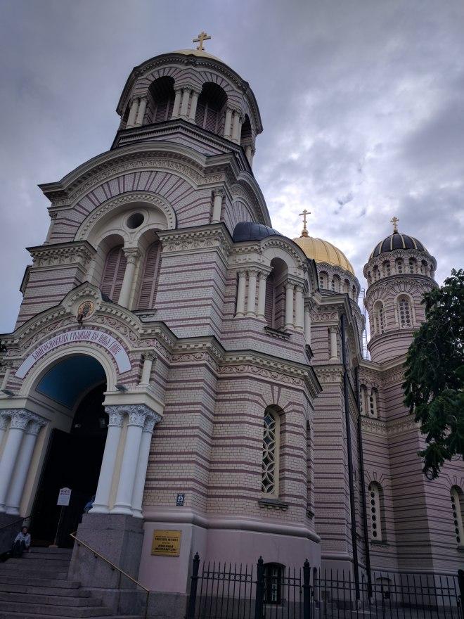 Riga Letonia Igreja natividade ortooxa