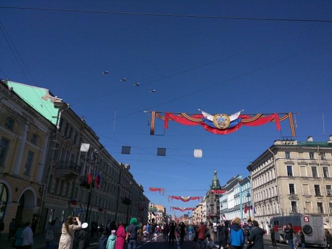 Dia da vitoria petersburgo nevsky show aeronautica