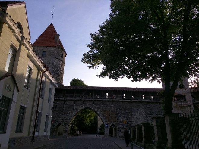 Tallinn centro historico muros