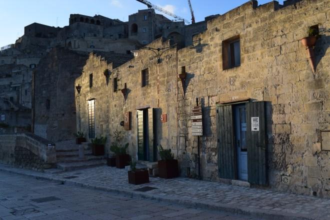 Matera italia casas construidas na pedra sassi
