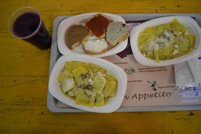 Brisighella sagra tartufi festival trufas almoço