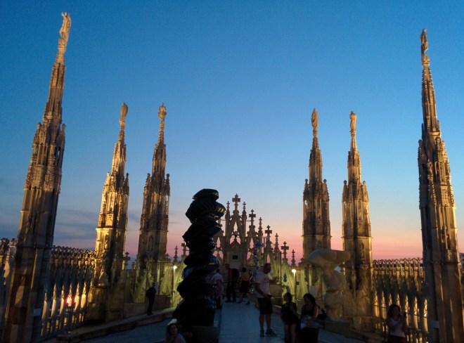 Milão Duomo terraços 3
