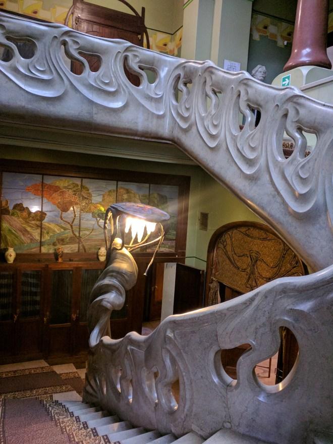 Moscou casa Gorki Riabushinsky escada