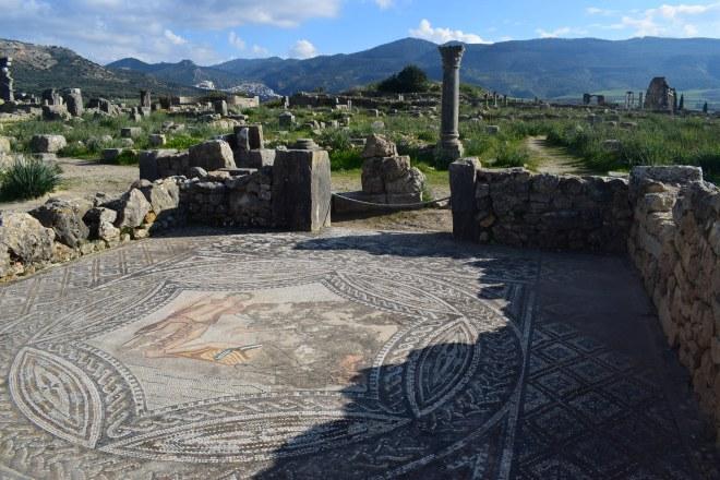 Volubilis ruinas romanas Marrocos baco e ariadne