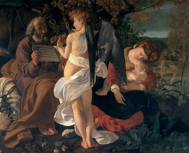 Onde ver Caravaggio em Roma galleria doria pamphilj descanso na fuga para o egito