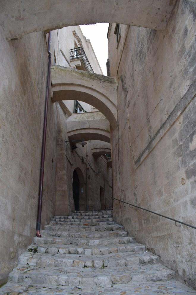 Matera sul itália rua com arcos