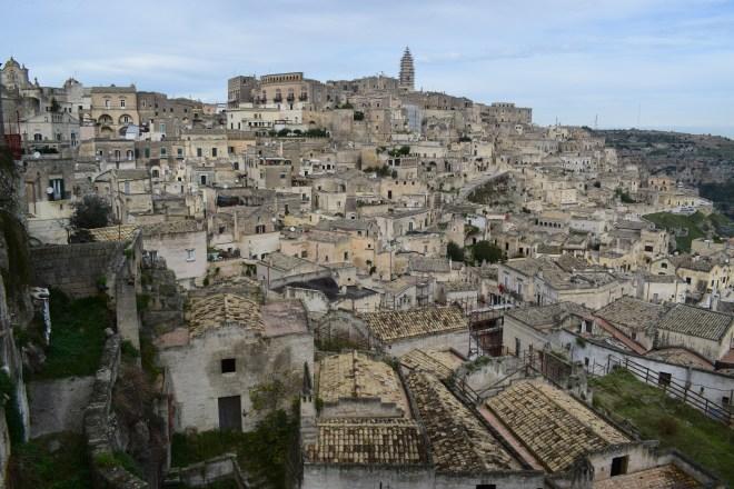 Matera sul itália visto alto