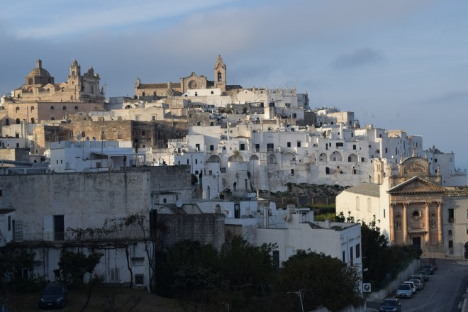 Ostuni cidade branca puglia italia vista centro histórico