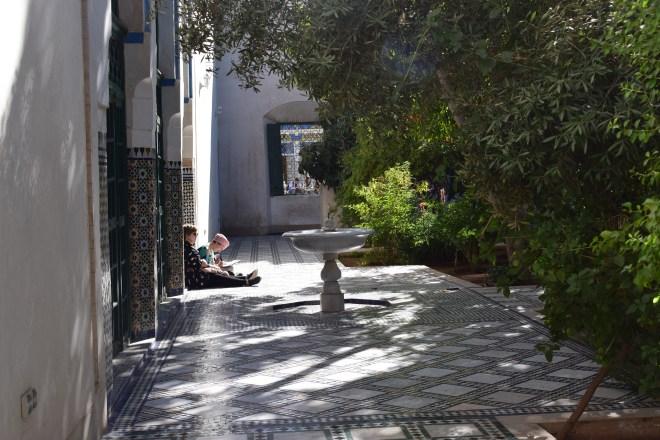 Marrakech palacio bahia teto jardins do harem
