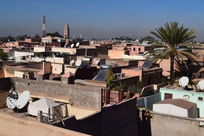Marrakech palacio em ruinas el badi vista