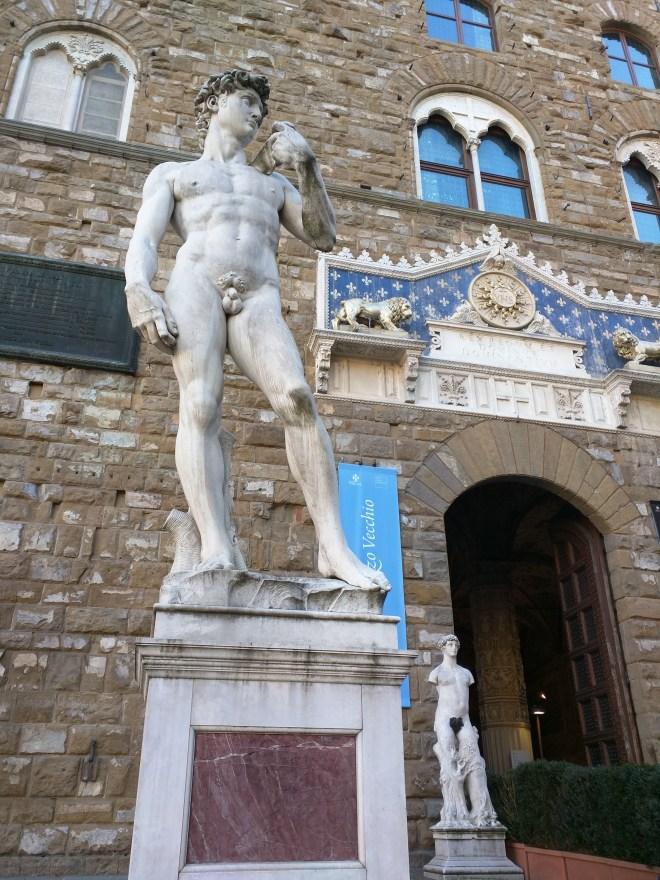 Florença piazza signoria palazzo vecchio estatuas david michelangelo
