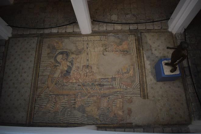 Marrocos Tangier museu kasbah mosaico romano