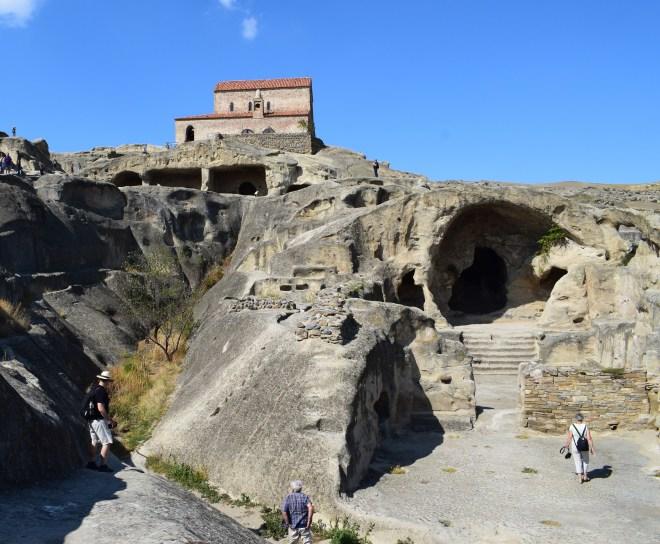 Uplistsikhe cidade cavernas Georgia vista do alto 3