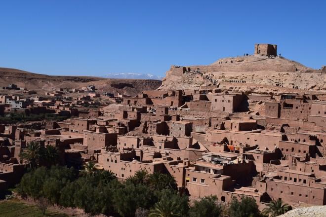 Ait Ben Haddou sul marrocos vista da colina