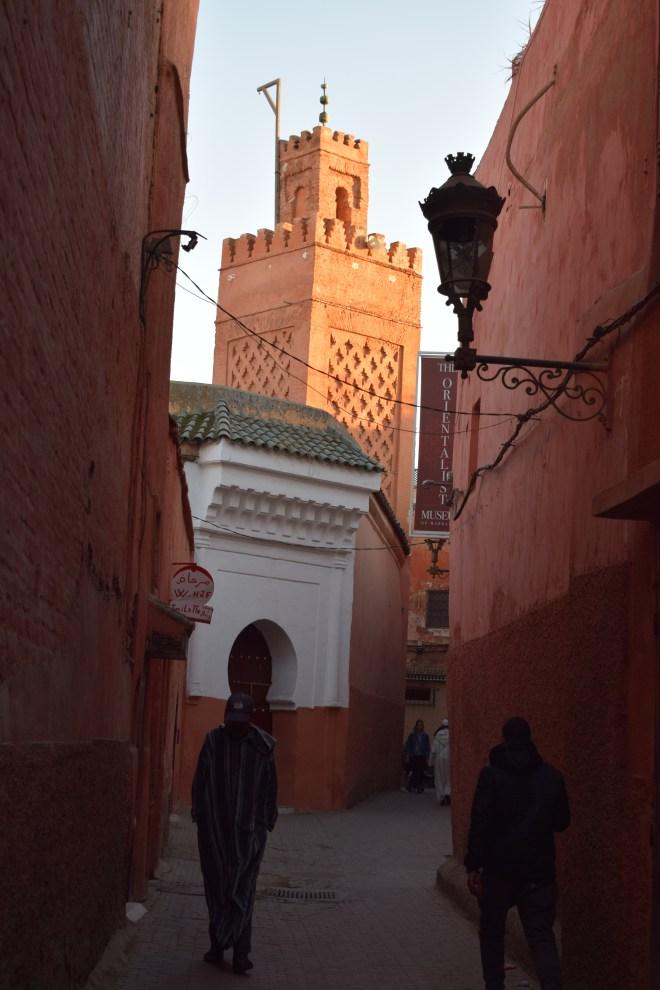 Marrakech medina minarete