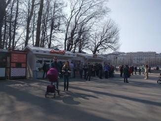 Moscou Parque Gorki comida de rua