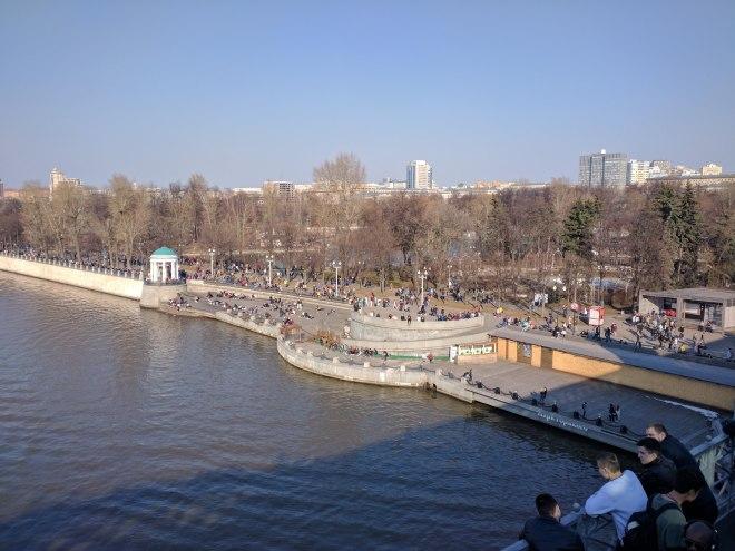 Moscou Parque Gorki vista da ponte