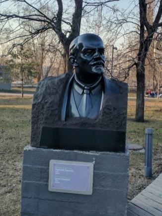 Moscou Parque muzeon esculturas lenin